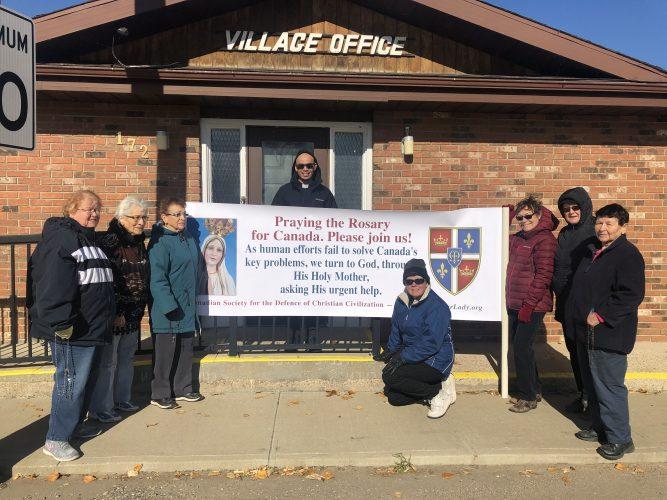 St. Louis, SK, Town office, Veterans Memorial Corner, Church,